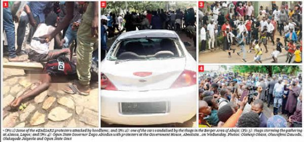 #EndSARS: Several injured as hoodlums attack protesters in Abuja