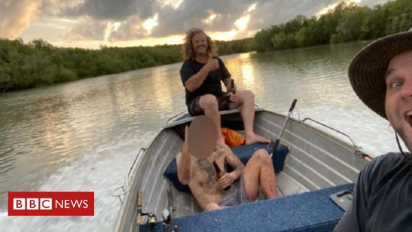 Naked fugitive rescued from mangrove by fishermen