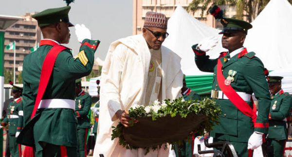 Buhari, Osinbajo, others honour fallen military personnel at Armed Forces Remembrance Day celebrations